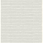Räsymatto linen fabric, white - grey