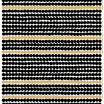 Räsymatto fabric, gold-black-white