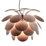 Discoco 68 pendant, oak - black chrome