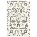 Maailman synty tea towel/placemat, large, white