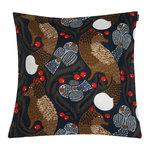 Ketunmarja cushion cover 50 x 50 cm, dark blue - brown