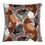 Ketunmarja cushion cover 45 x 45 cm, light grey - redbrown