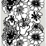 Eläköön elämä fabric, grey-white-black