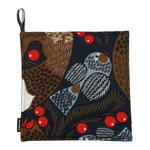 Ketunmarja potholder, dark blue - brown