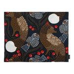 Marimekko Ketunmarja pinnoitettu kangastabletti, tummansininen-ruskea