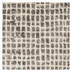 Grid matto, valkoinen - harmaa