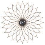 Sunflower Clock, birch