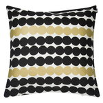 Räsymatto cushion cover 50 x 50 cm, white-gold-black