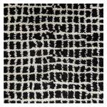 Grid matto, valkoinen - musta