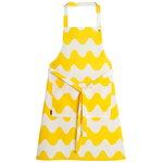 Pikku Lokki apron, white - yellow