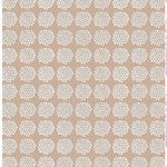 Puketti fabric, beige - white