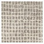 Grid matto, valkoinen - vaaleanharmaa