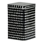 Räsymatto tin box, grey - black