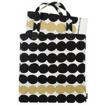 Räsymatto fabric & bag set, gold-black-white