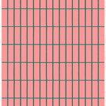 Marimekko Tiiliskivi paksu puuvillakangas, vaaleanpunainen - tummanvihreä