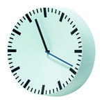 Analog wall clock, mint green