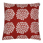 Puketti cushion cover 45 x 45 cm, red - dark blue - white