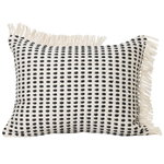 Way cushion, 70 x 50 cm, off white - dark blue