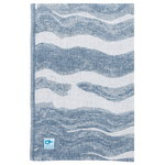 Aallonmurtaja giant towel 95 x 180 cm, white - blue