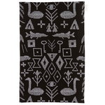 Maailman synty tea towel/placemat, large, black