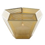 Cell tea light holder, brass