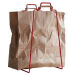 Helsinki paper bag holder, red
