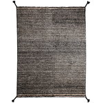 Grid rug, white - black