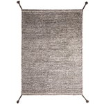 Grid rug, white - grey