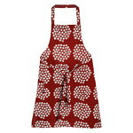 Marimekko Puketti apron, red - dark blue - white