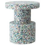 Normann Copenhagen Bit stool, white - multi