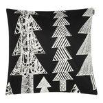 Kuusikossa cushion cover 45 x 45 cm, black - white