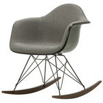 Eames RAR rocking chair, upholstered, mother of pearl/black