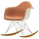 Eames RAR rocking chair, upholstered, pale rose/cognac