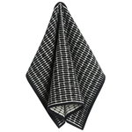 Alku tea towel, black