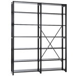 Classic open shelf, double, black