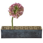 Äng vase, rectangular, brass