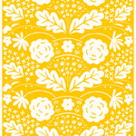 Onni fabric, yellow