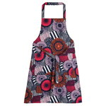 Pieni Siirtolapuutarha apron, white-red-dark blue