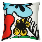 Eläköön elämä cushion cover 50 x 50 cm, red-blue-yellow