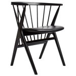 No 8 chair, black - black leather