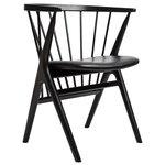 No 8 tuoli, musta - musta nahka