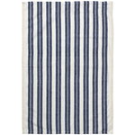 Hale tea towel, off white - blue