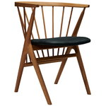 No 8 chair, oak - anthracite leather