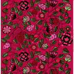 Tiara fabric, red-pink-green