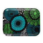 Pieni Siirtolapuutarha tray, green-white-black