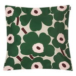Pieni Unikko cushion cover 50 x 50 cm,  beige - green - peach