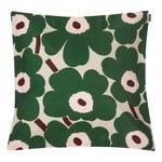 Pieni Unikko tyynynpäällinen 50 x 50 cm, beige-vihreä-persikka