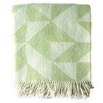 Twist a Twill throw, pale jade green