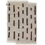 Laine rug knotted, off white - black
