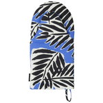 Babassu oven mitten, blue - black - off white